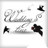 Tempo di nozze — Vettoriale Stock