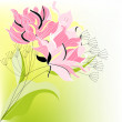 pink flowers — Stock Vector