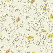 Stylized seamless pattern — Stock Vector