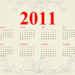Vintage calendar for 2011 — Stock Vector