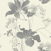 Floral seamless wallpaper — Stock Vector