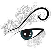 Decorative eye — Stock Vector