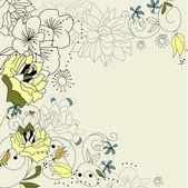 Romantyczny tło z kwiatami — Wektor stockowy
