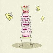 Cake — Stock Vector