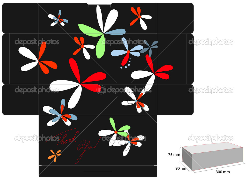 Decorative Boxes Templates : Decorative box template stock vector ? jershova