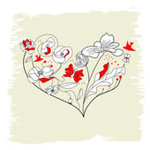 装饰心脏 — 图库矢量图片