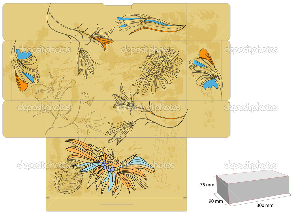 Decorative Boxes Templates : Template for decorative box stock vector ? jershova