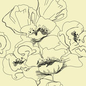 Seamless floral wallpaper — Stock Vector