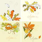 Set of autumn background — Stock Vector