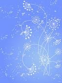 цветочный узор декоративно — Cтоковый вектор