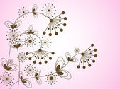 Motif de fleurs — Vecteur