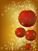 Stylized Christmas ball — Stock Vector