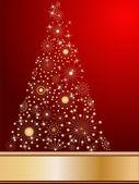Stiliserad julgran — Stockvektor