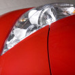 Red Car Diagonal Light — Stock Photo