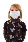 Child Girl In Medicine Mask. — Stock Photo
