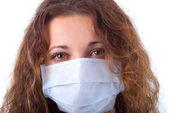 Women In Medicine Mask. — Stock Photo