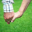 Senior couple holding hands — Stock Photo #3059387