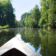 Stock Photo: Canoeing in spreewald canal