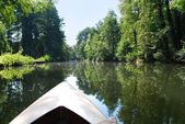 Canoeing in spreewald canal — Stock Photo