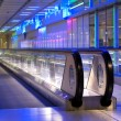 Airport walkway — Stock Photo