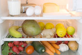 Food refrigerator — Stock Photo
