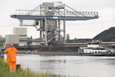 Coal carrier harbor — Stock Photo