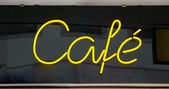 Neon sign cafe — Stock Photo