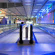 Escalator airport — Stock Photo