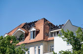 Fire roof — Stock Photo