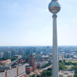 Berlin skyline television tower — Stock Photo