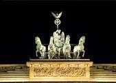 Berlínské braniborské brány čtyř349 — Stock fotografie