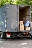 House moving van — Stock Photo