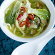 Stock Photo: Bok choi soup