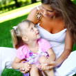 Sweet and beautiful girl with mom — Stock Photo #3568530