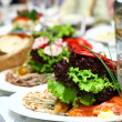 Fresh and tasty food on table — 图库照片