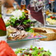 Fresh and tasty food on table — Foto Stock