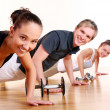 Group doing fitness exercises — Stock Photo #3670512