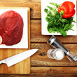 Fresh and very tasty steak — Stock Photo