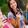 Group of young womens drinking wine - Foto de Stock
