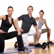 Group doing fitness exercises — Stock Photo #3817529