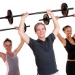 Group doing fitness exercises — Stock Photo #3817557