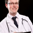 Young and attractive medical student — Stock Photo #3827569