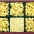 Many types of pasta — Stock Photo