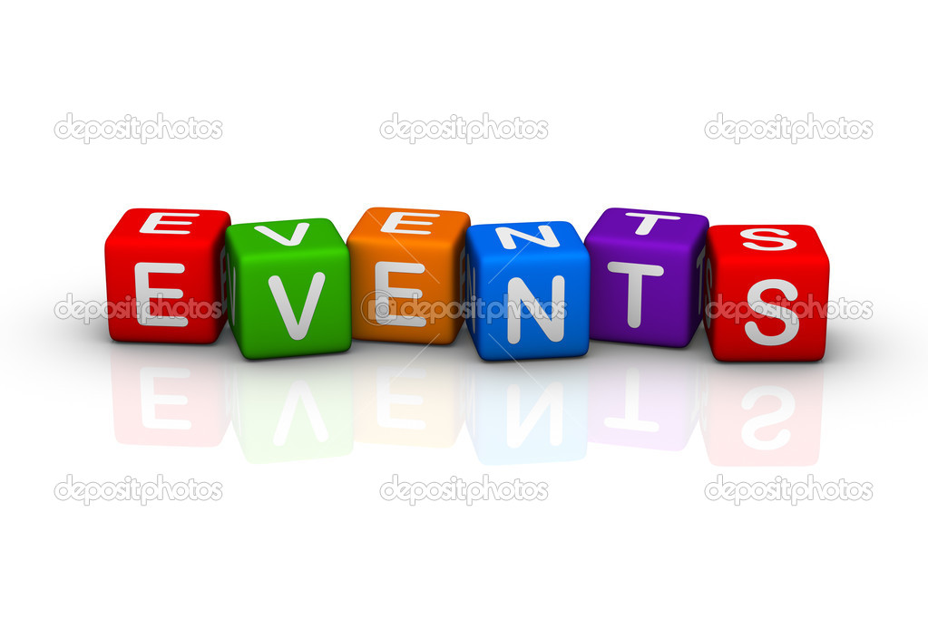 Events (buzzword colorful cubes series)  Stock Photo #2697816