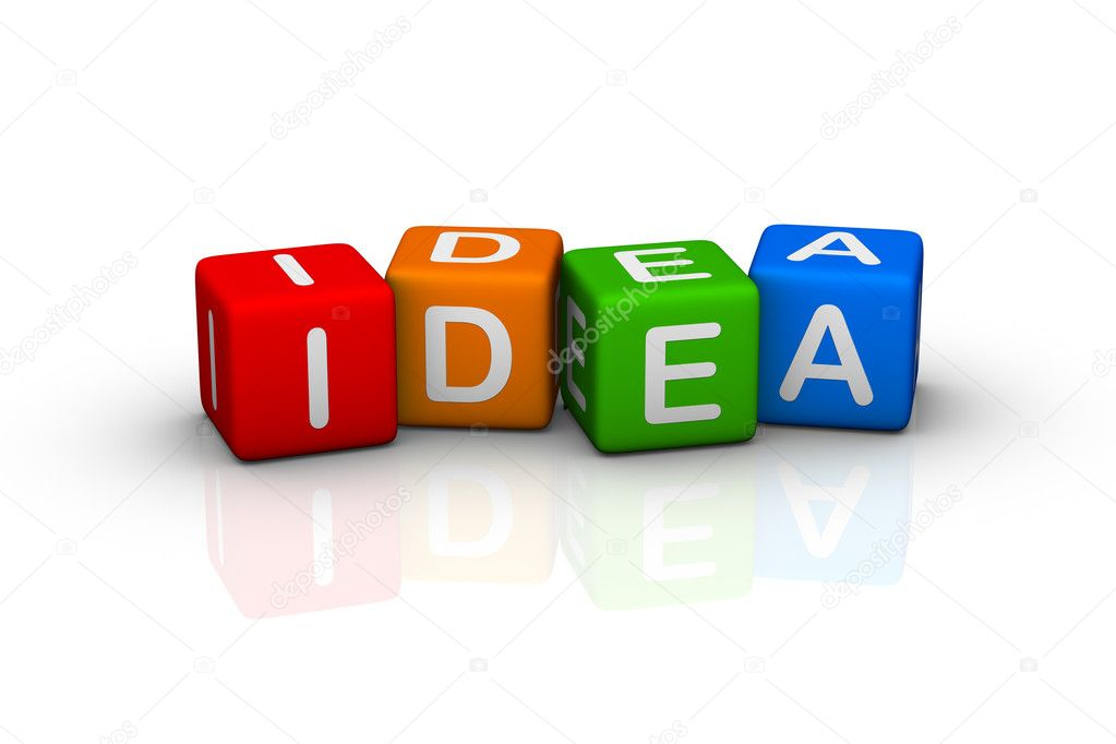 Idea (buzzword colorful cubes series) — Stock Photo #2697843