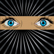 Big spy eyes vector — Stockfoto