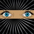Big spy eyes vector - Foto Stock