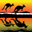 Kangaroo Australia icon - Stock Photo