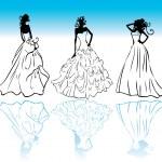 Wedding dress icons — Stock Photo #3162775
