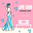 Wedding card, love nature, congratulations logo. Vector weddings — Stock Photo #3353896